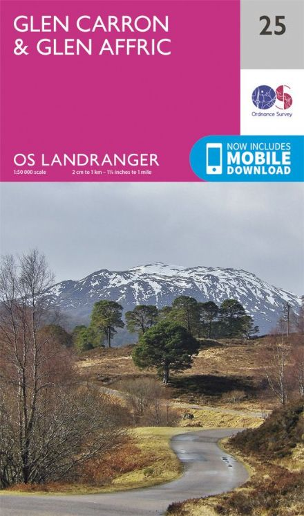 OS Landranger 25 - Glen Carron and Glen Affric